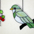 小鳥のステンドグラス
