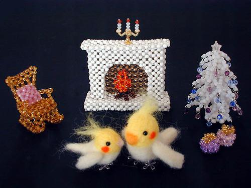 羊毛オカメ親子のクリスマス